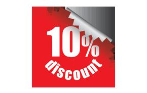10 percent discount image