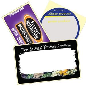 product labels or produce labels