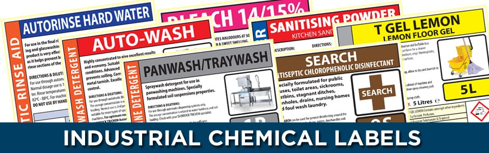 chemical labels banner
