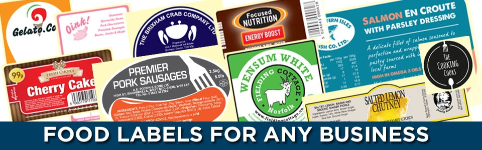 food labels banner