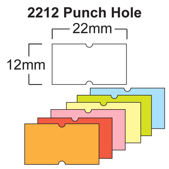 Image of CT1 (22mm x 12mm Punch Hole) Pricing gun labels Product image