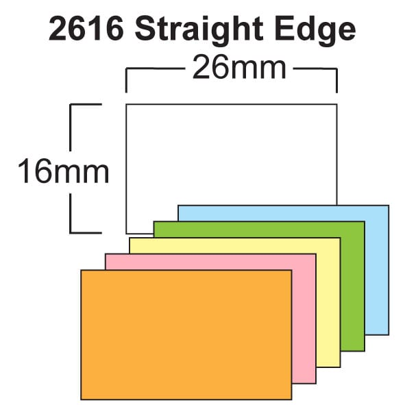 Image of CT7 (26mm x 16mm Rectangular) Pricing Gun Labels Product image