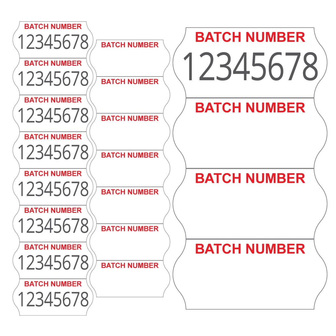 Image of CT4 (26mm x 12mm) Batch Number Labels Product Image