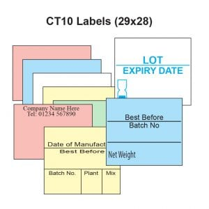Image of CT10 Labels - 29mm x 28mm Square edge labels Product Image