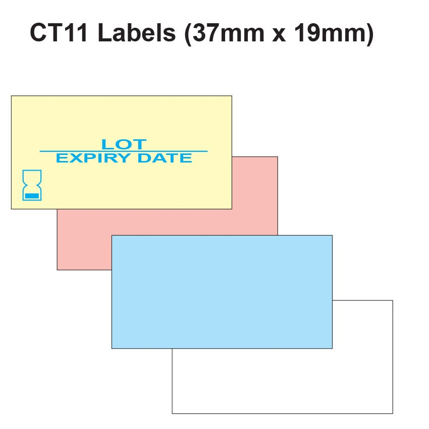 CT11 Labels (37mm x 19mm Label Gun Labels)