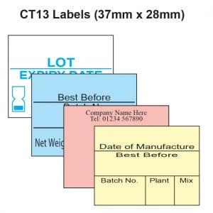 CT13 Labels - 37mm x 28mm Label Gun Labels