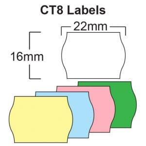 CT8 Labels (2216 Wavey Edge labels)
