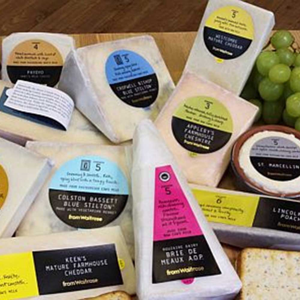 Image of Cheese Labels on Packaging Product Image