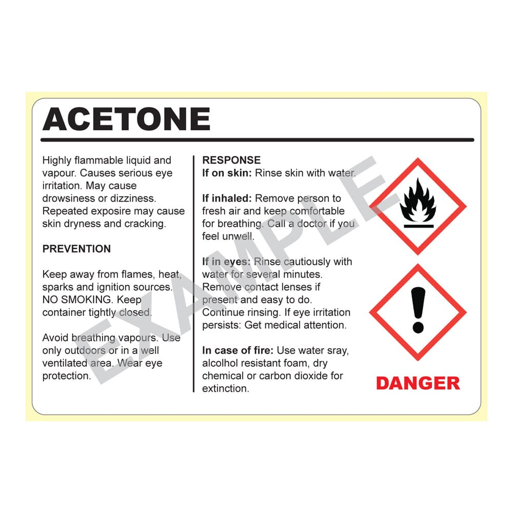 Image of Hazardous Material Warning Labels Product Image