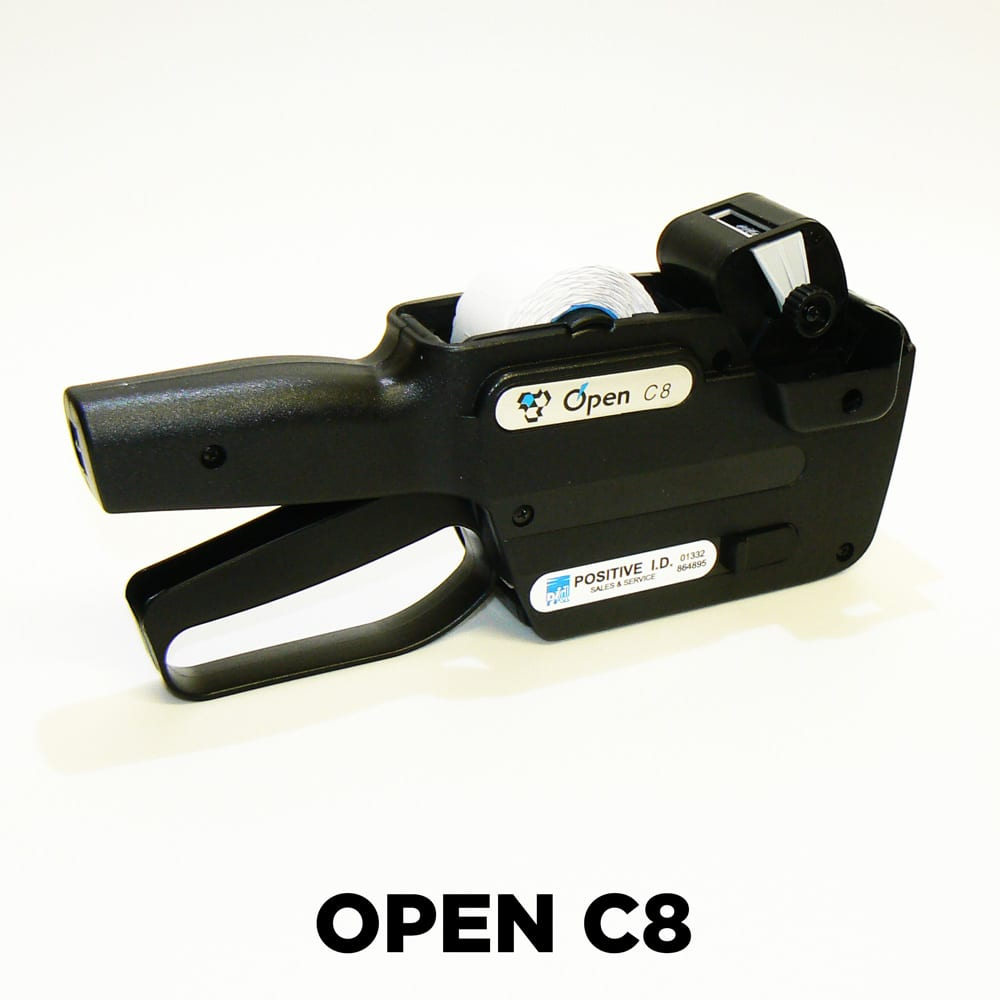 Open C8 Pricing Gun an ideal 1 line batch number pricing gun
