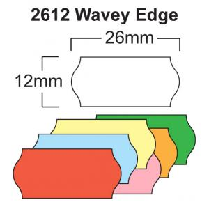 CT4 26 x 12mm Wavey Edge Price Gun Labels
