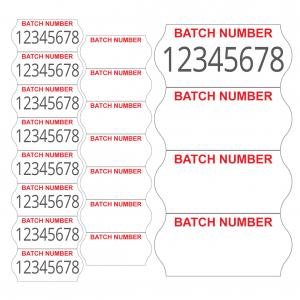 batch number labels 2612
