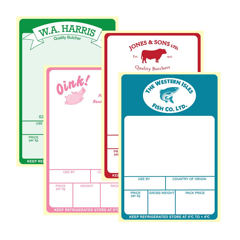 Examples of avery berkel scale labels in pre-printed form