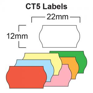 CT5 Labels 22 x 12mm Wavey Edge Labels