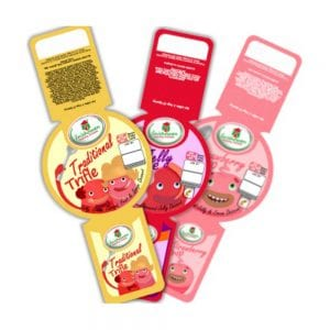 Examples of dessert labels Product Image