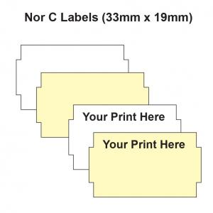 Nor C Labels 33 x 19mm Labelling Gun Labels