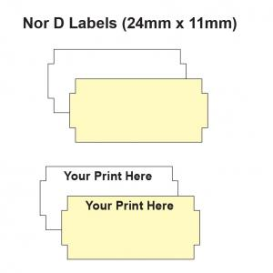 Nor D Labels 24 x 11mm Labels