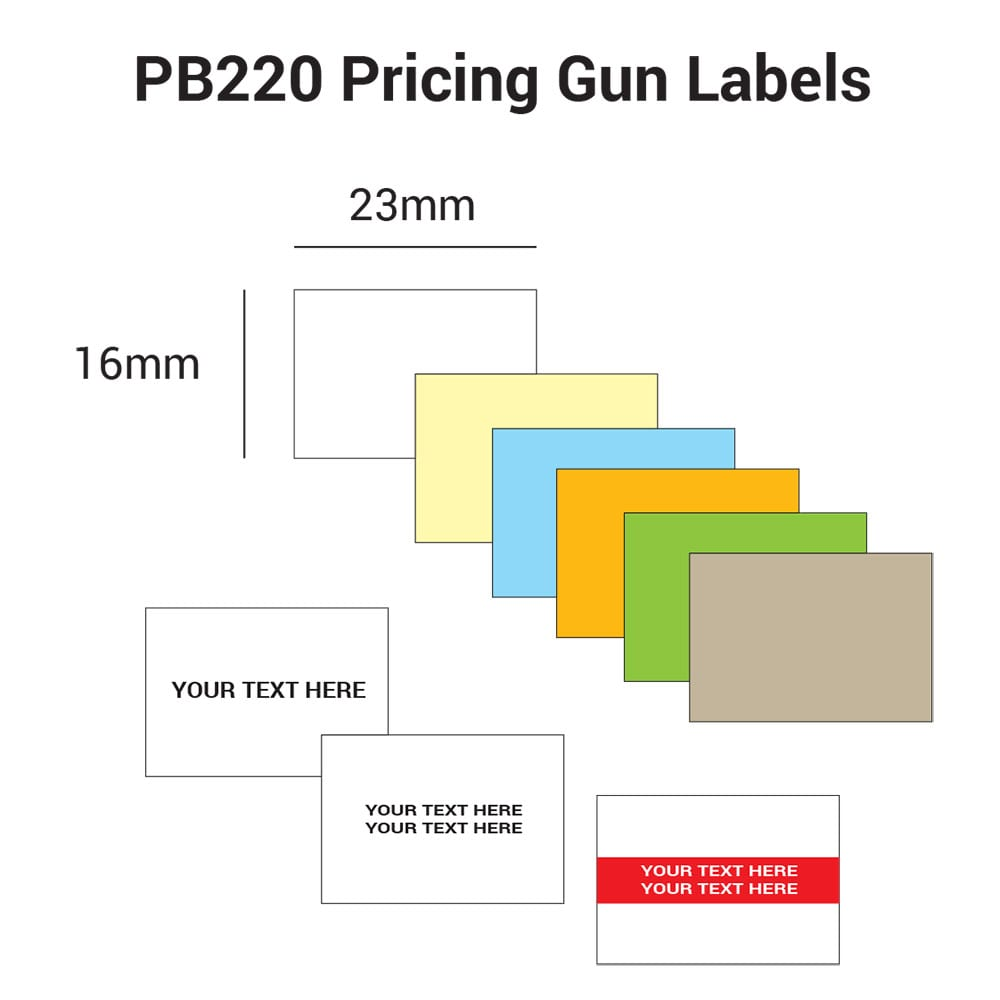 PB220 Pricing Gun Labels