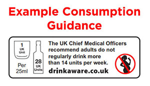 alcohol drinks labelling example consumption guide