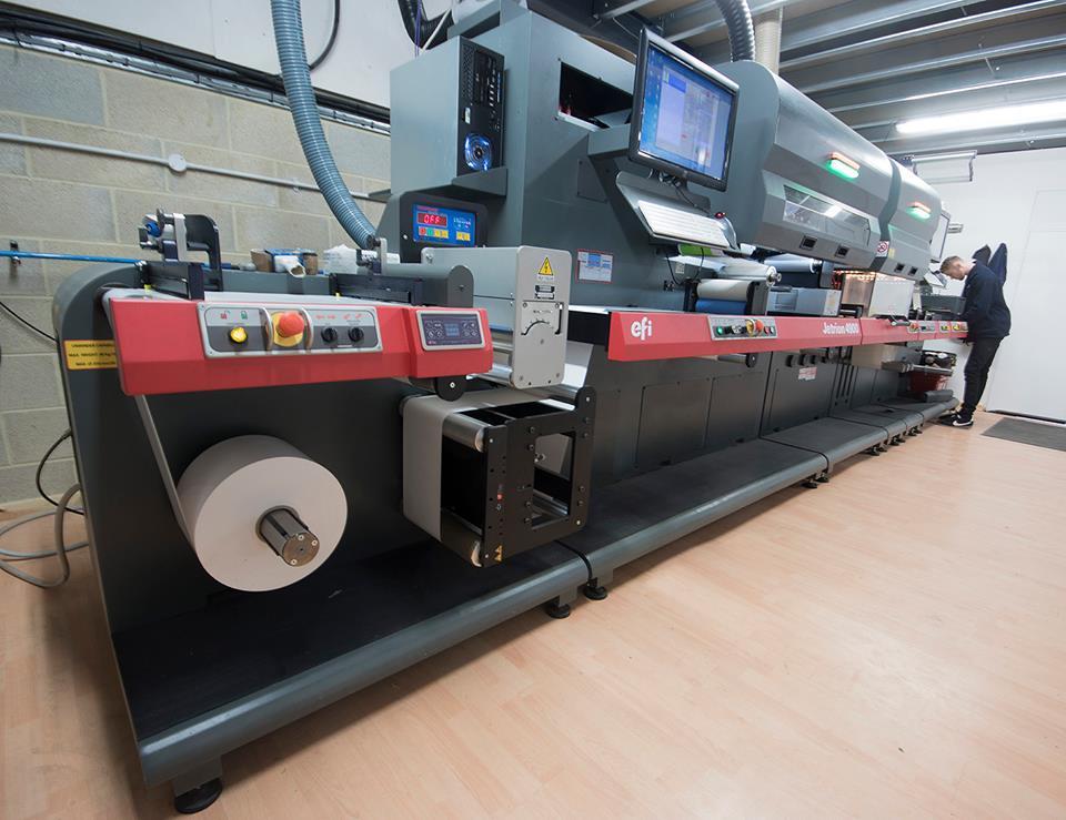 digital label printing - jetrion 4900 digital label printer and laser die cutting station