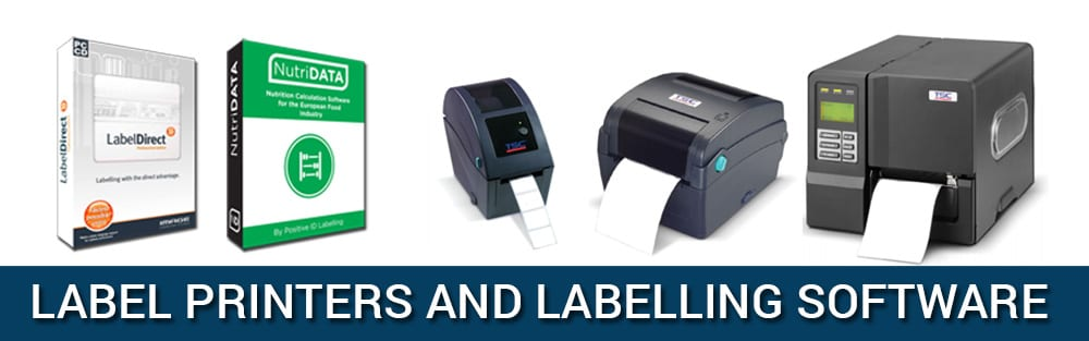 image opf label direct and nutridata labelling software with TDP225 2 inch label printer, TTP245C labelling printer and Industrial ME240 thermal label printer