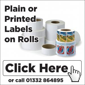 range of plain or pre-printed sandwich labels on rolls - click here